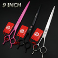 9 inch Excellent Straight Cutting Scissor Dog Grooming Scissors  /Shear with Case/Black/Pink/Silver