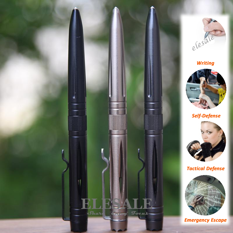 New Tactical Pen Self Defense Aluminum Ball Point Pen With Tungsten Steel Head Glass Breaker Outdoor EDC Tool Gift Box senseit p3