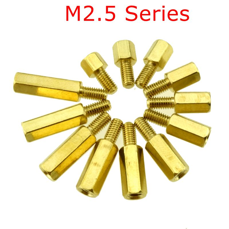 10pcs  M2.5 Series Brass Copper M2.5 Hex Column Standoff Support Spacer Pillar PCB Board Male to Female10pcs  M2.5 Series Brass Copper M2.5 Hex Column Standoff Support Spacer Pillar PCB Board Male to Female