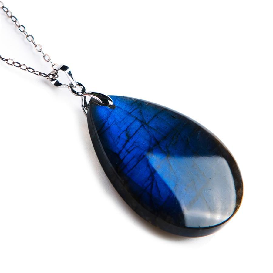 GenuineNatural Blue Lights Labradorite Gems Stone Crystal Women Suspension Pendant Bead 38x31x8mmGenuineNatural Blue Lights Labradorite Gems Stone Crystal Women Suspension Pendant Bead 38x31x8mm