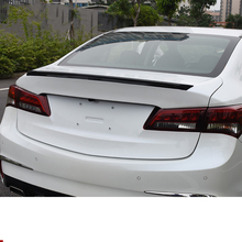 Lsrtw2017 Carbon Fiber Abs Car Punch Free Rear Bumper Tail Wing Strip for Acura TLX-L 2014 2015 2016 2017 2018 2019 2020