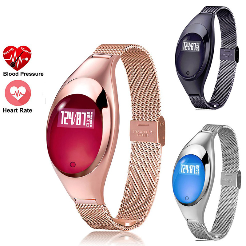 MOCRUX Z18 Women Fashion Smart Watch With Blood Pressure Heart Rate Monitor Pedometer Fitness Tracker Wristband