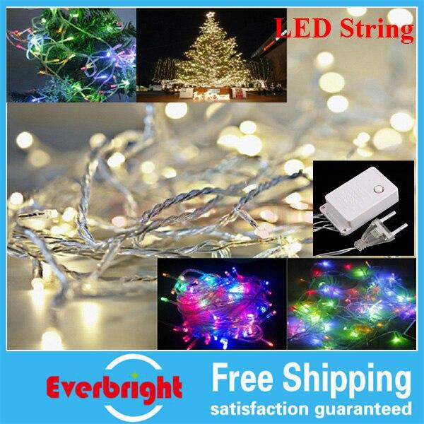Led Outdoor Christmas Lights Reviews: Led string light 10M 100led AC110V or AC220V colorful holiday led lighting  waterproof outdoor decoration light christmas light,Lighting