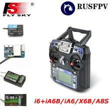 Flysky FS-i6 FS I6 2,4 г 6CH передатчик с FS-iA6/FS-iA6B/FS-A8S приемник для вертолета самолет FPV системы Racing Drone Mode1 Mode2