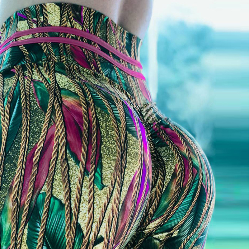 2019 New Arrival Women Print Leggings Elastic High Waist Workout Fitness leggins Female Breathable Slim Pants Hot Sale legging