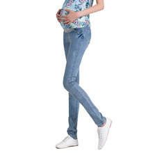 Denim Maternity Jeans Plus size Elastic waist Long Trousers pants for Pregnant women Pregnancy clothes ropa embarazada leggings