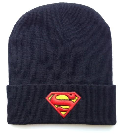 Superman Gorros Sombreros de Hip-Hop de Algodón de invierno de lana de punto cálido sombrero del Snapback para el hombre y la mujer 1 unids