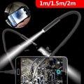 2 M 1 M 7mm Endoskop Kamera Flexible IP67 Wasserdichte Inspektion Endoskop Kamera für Android PC Notebook 6 LEDs einstellbar-in Endoskope aus Werkzeug bei