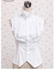 """Белая хлопковая рубашка в стиле """"Лолита"""" с кружевом"""