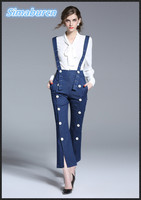 Women Formal Chiffon Solid Color Bow Shirts Long Sleeve V Neck Botton Blouses Work Office Wear