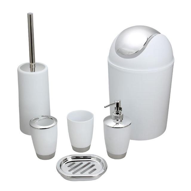 6 pz Accessorio per il Bagno Set di Strumenti di Lavaggio Bottiglia di Collutori