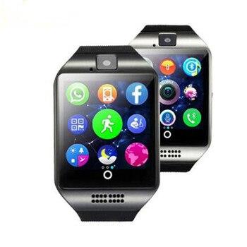cddf72255e80 10 unids lote Bluetooth Q18 reloj inteligente con cámara reloj de pulsera  Bluetooth para IOS