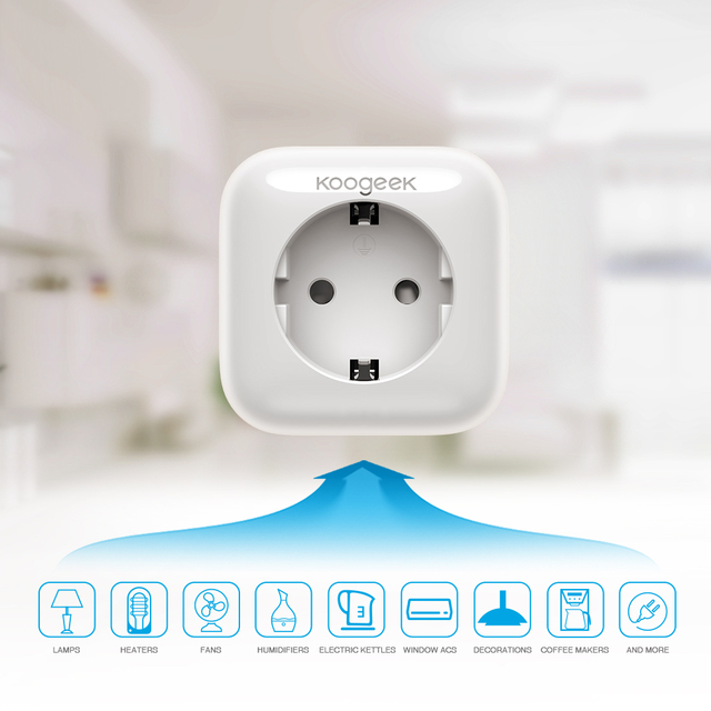 Koogeek-Smart-Socket-Wifi-Plug-para-Apple-HomeKit-Alexa-Google-asistente-UE-enchufe-de-casa-inteligente