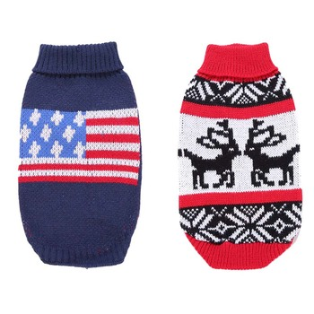 Fashion Dog Sweaters Winter Warm Dog Clothes Knit Pet Sweaters for Small Medium Dogs Pug Chihuahua Knitwear French Bulldog image