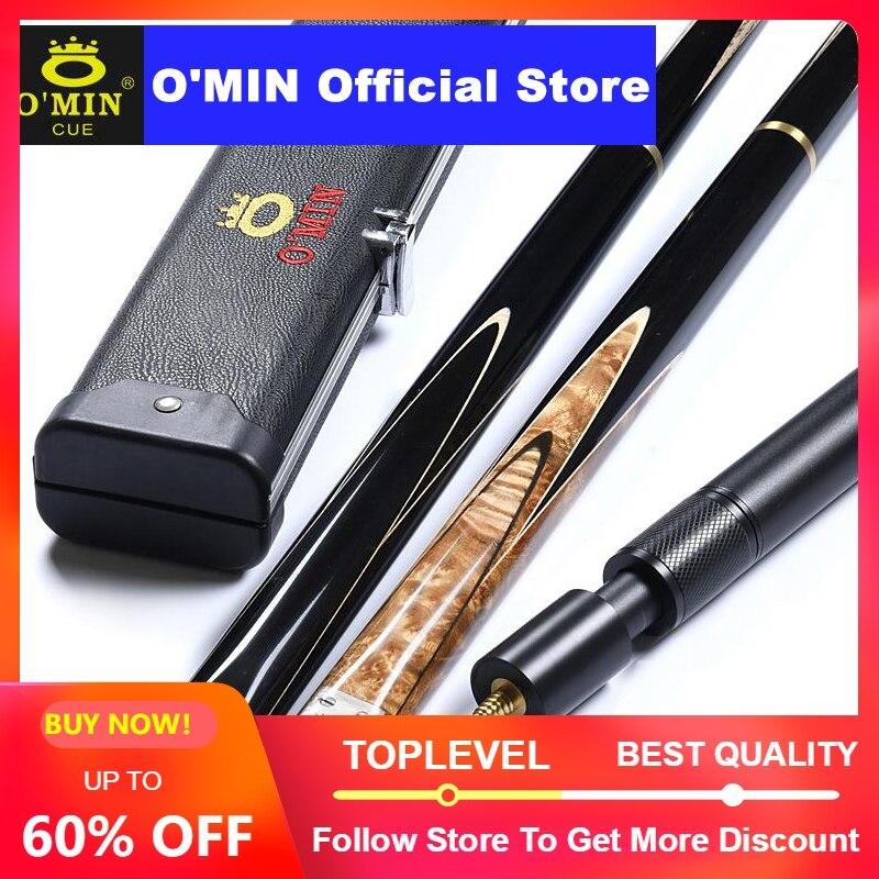 2019 O'MIN pistolero taco de billar 3/4 piezas taco de billar Kit con O'MIN caso con telescópica extensión 9,5mm 10mm punta directo Stick