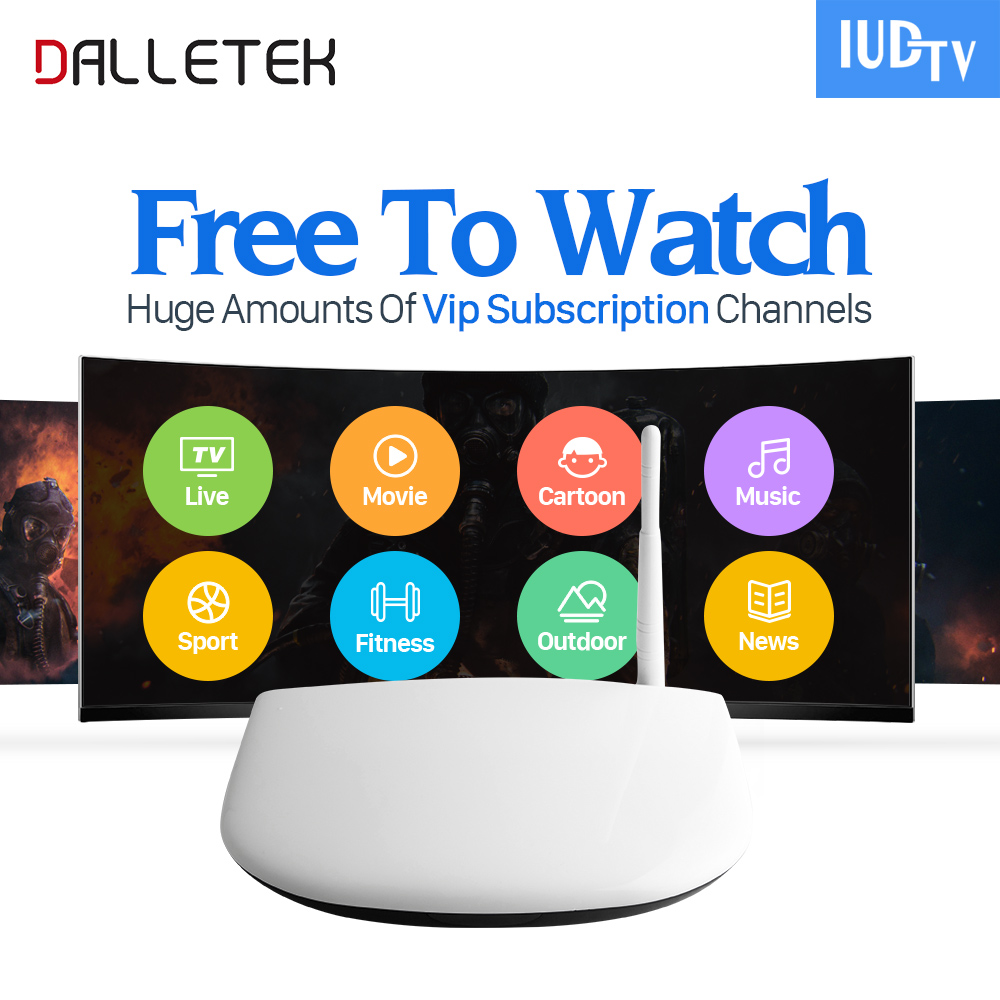 Dalletektv 1 Year IUDTV Code IPTV Subscription Europe Channels Android 6.0 Smart TV Box RK3229 French Italia Arabic IPTV Top Box x92 android iptv box s912 set top box 700 live arabic iptv europe french iptv subscription 1 year iptv account code