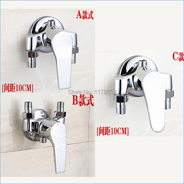 Surface Mounted All Copper Exposed Shower Faucet Exposed Brass