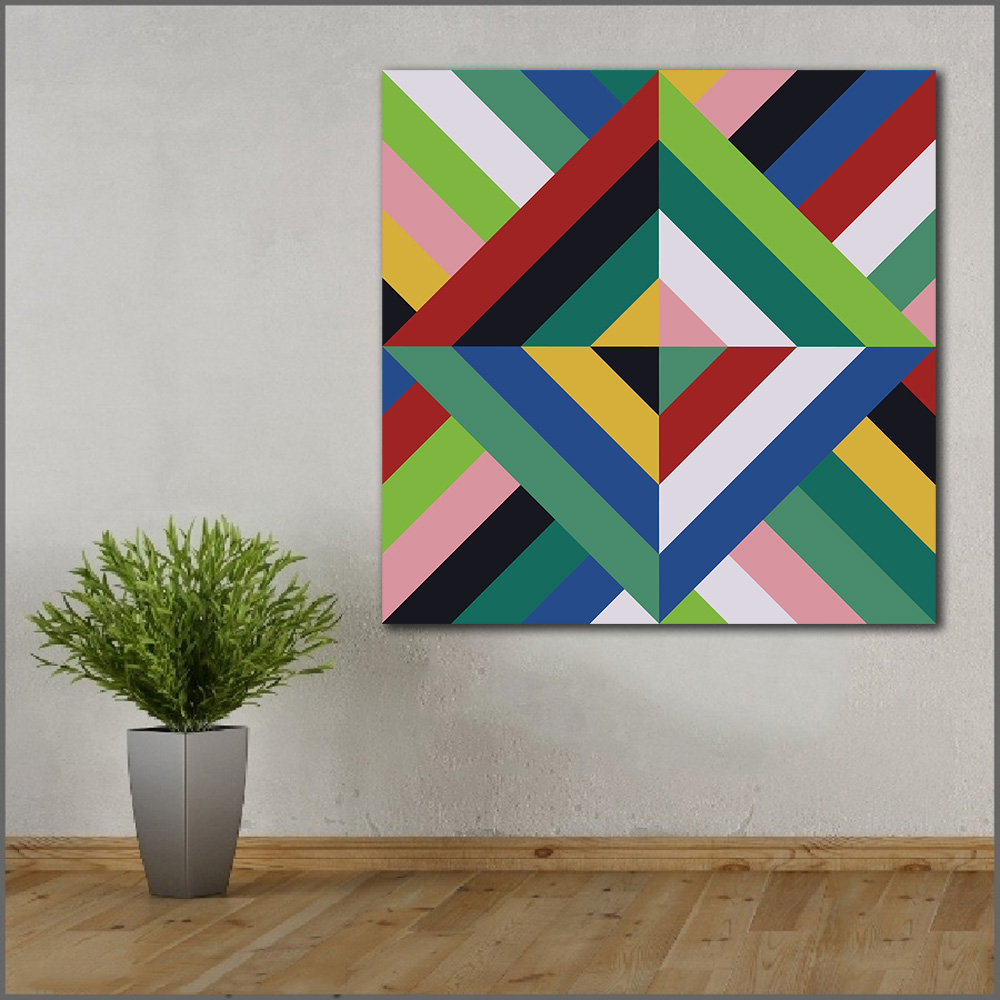 Large Size Printing Oil Painting Color Block Geometry Art Canvas Prints Pictures For Living Room