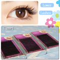 New 3 trays/lot 0.10 C curl high quality lower lashes eyelash extension 5mm 6mm 7mm natural long mink under eyelash extension