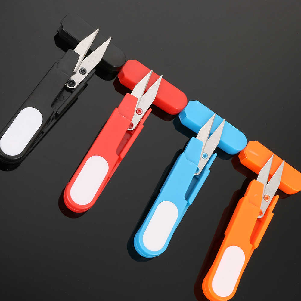 U-образные портновские ножницы для вышивки крестиком портные резьбовые резцы пластиковая ручка Защитная крышка вышивка переносная игла ремесла DIY