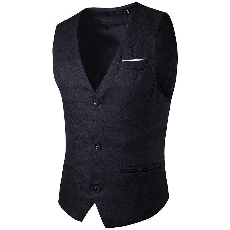 2017 Neue Mann Anzug Weste Mode Slim Fit Marke Männer Weste Tops Casual Business Hochzeit Bräutigam Weste Kleid Weste Gilet Homme