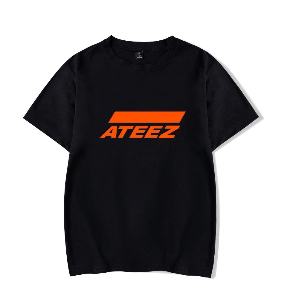 New Kpop Group ATEEZ T-shirt Tshirt Tops Hongjoong Seonghwa Yunho Yeosang San Mingi Wooyoung Jongho ATEEZ A TEEnager Z