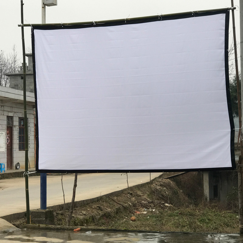 100 Inches Size Projection Screen/Canvas White Screen For Home ...
