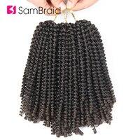 SAMBRAID Омбре Весна Твист наращивание волос вязанные косички волосы синтетические вязанные волосы волокна плетение волос для женщин