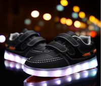 New 2016 Cool Recharged LED Lighting Casual Kids Shoes Fashion Fashion Boys Girls Shoes High Quality