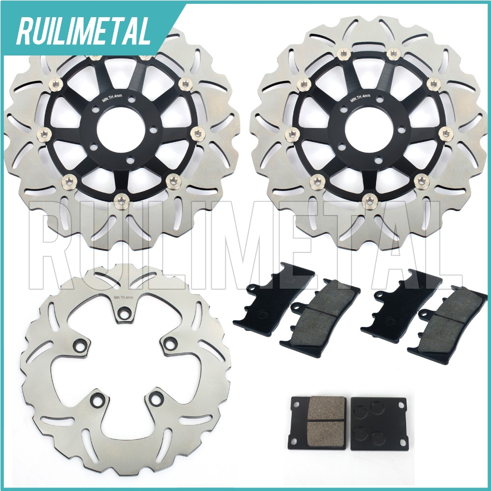 1 Set Front Rear Brake Discs Rotors Pads Set for Suzuki GSXR 750 W WR WS 94 95 1994 1995 GSX-R 1100 WP WR WS WT 93-96 1993 1996 full set front rear brake discs disks rotors pads for suzuki gsxr 750 94 95 gsx r 1100 p r s t 1993 1994 1995 1996