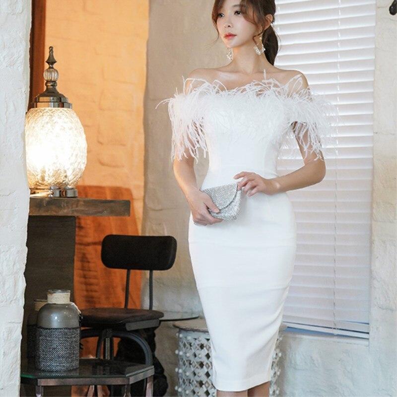 Women Sexy Short Sleeve Cut out Neckline Slim Cut Dress Bodycon Dresses Plus Size White Black Elegant Ladies Dresses X 059