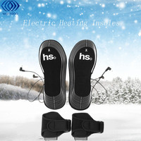 Carbon Fiber Black Electric Heating Shoe Insoles Battery Compartment Heating Insole Shoe Dryer 4 5 V