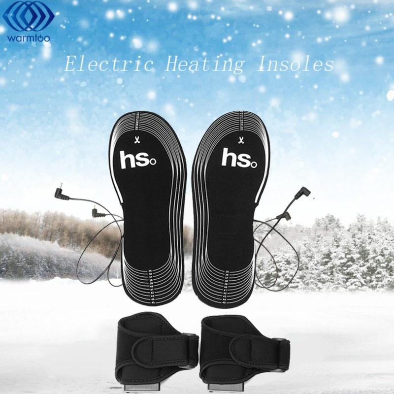 Karbon Fiber Siyah Elektrikli Isıtma Ayakkabı Tabanlık Pil Bölmesi Isıtma Astarı Ayakkabı Kurutucu 4.5 V Güç Kaynağı