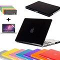 3 в 1 Крышка Ноутбука Чехол для Macbook Air Pro Retina 11 12 13 15 Кристалл Прозрачный чехол сумка для ноутбука для Mac Book 13.3 дюймов