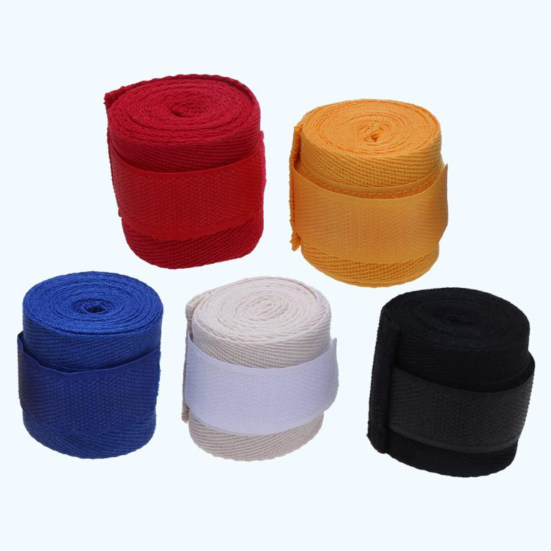 1 pc 2.5M Eslatic Cotton Sports Strap Boxing Bandage for Sanda Muay Thai MMA Taekwondo Hand Gloves Wraps