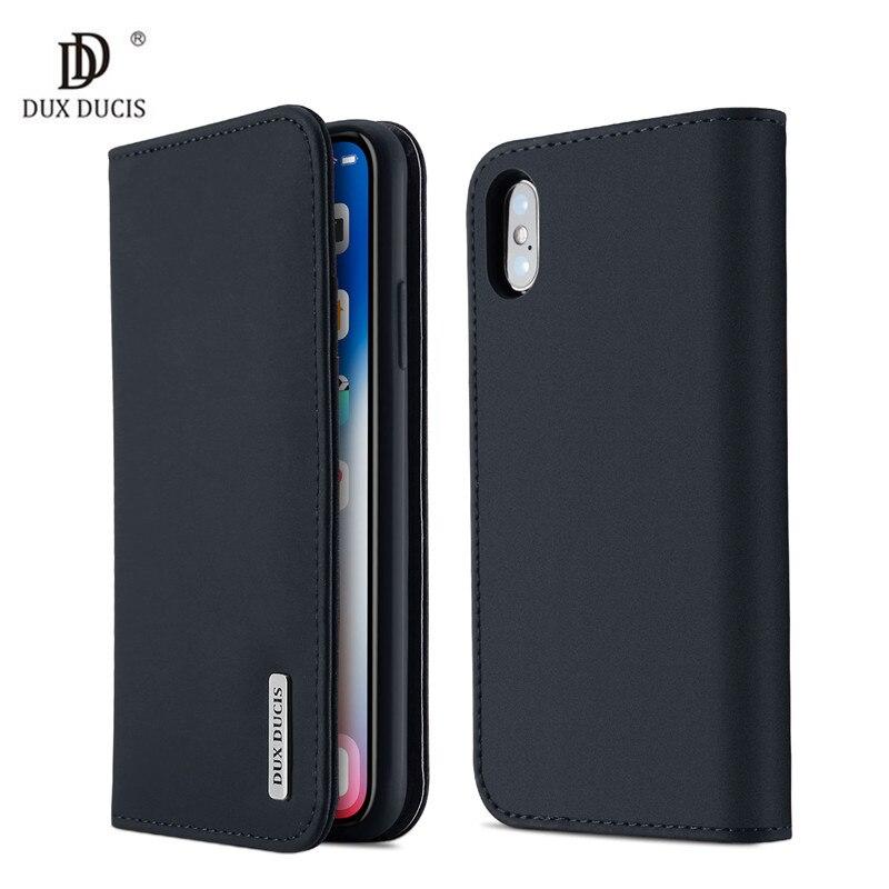 100% Véritable Luxe Flip PU En Cuir De Silicium Couverture pour iPhoneX 10 Cas 5.8 Sac de Téléphone de protection Cas Pour l'iphone X Portefeuille Cas