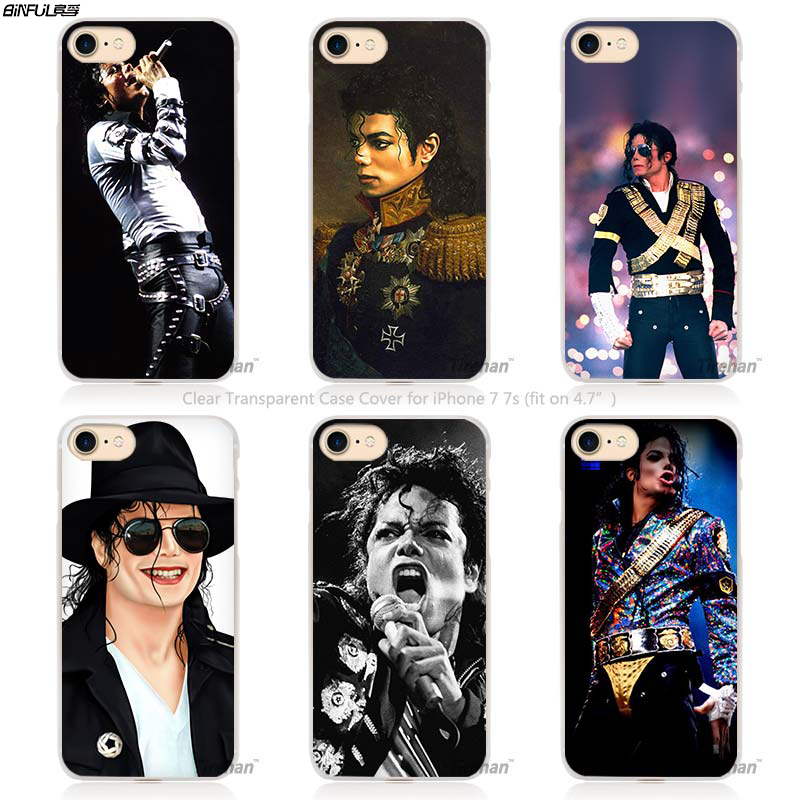 17e0de4fae BiNFUL michael jackson Hard Transparent Phone Case Cover Coque for Apple  iPhone 4 4s 5 5s
