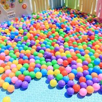 200Pcs/Pack Eco Friendly Colorful Soft Plastic Water Pool Ocean Wave Ball Baby Funny Toys Stress Air Ball Outdoor Fun Sports