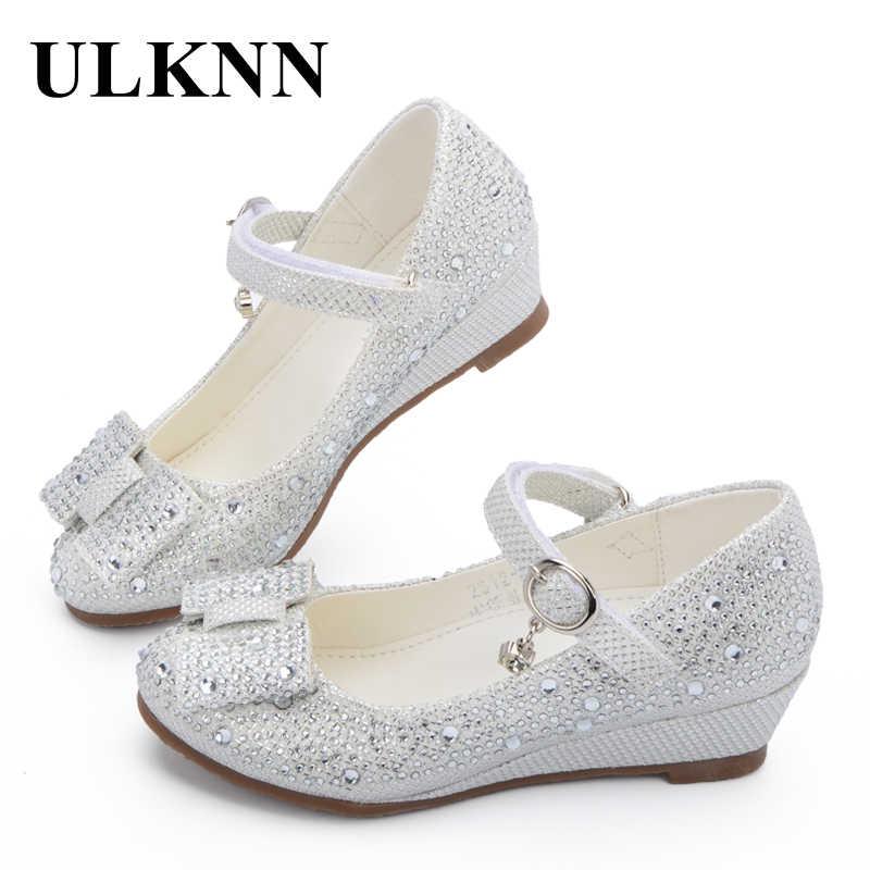 ULKNN горячая Распродажа принцесса обувь детская танкетка обувь для девочек  мягкие дышащие женские сандалии вечерние для 7f484415f83