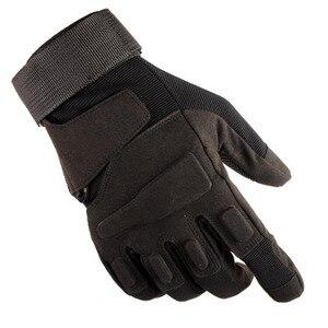 Image 2 - חדש גברים ונשים טקטי כפפות חיצוני נגד החלקה ספורט רכיבה הזזה חצי אצבע מלאה אצבע כפפות לחימה