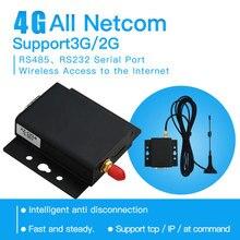 RS232 RS485 uart 4G LTE DTU Modem Seri Veri Aktarımı Uzaktan Sunucu Desteği GPRS/3G /4G, TCP/IP, AT komutu