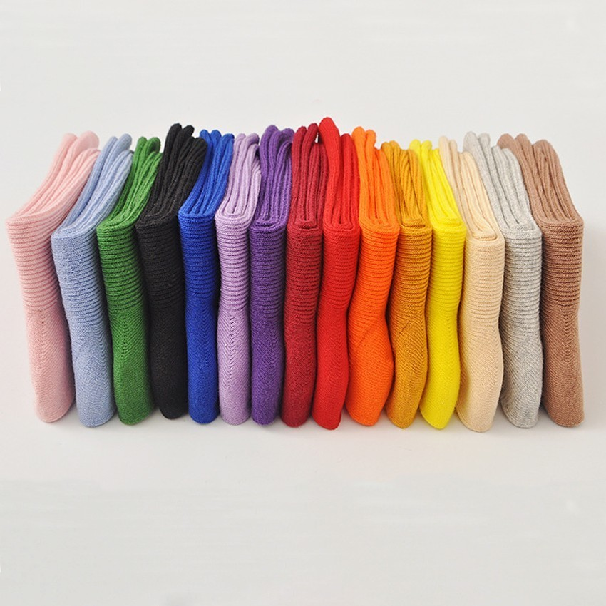 PEONFLY Autumn new   sock   hosiery women fashion vertical stripes Solid cotton funny   socks   female Candy Color harajuku   socks