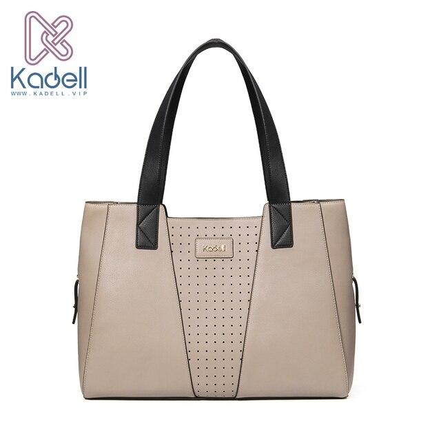 Kadell бренд 2017 выдалбливают Сумки на плечо большой Ёмкость Повседневное сумка Для женщин сумки Высокое качество кожаная сумка Элегантный женский