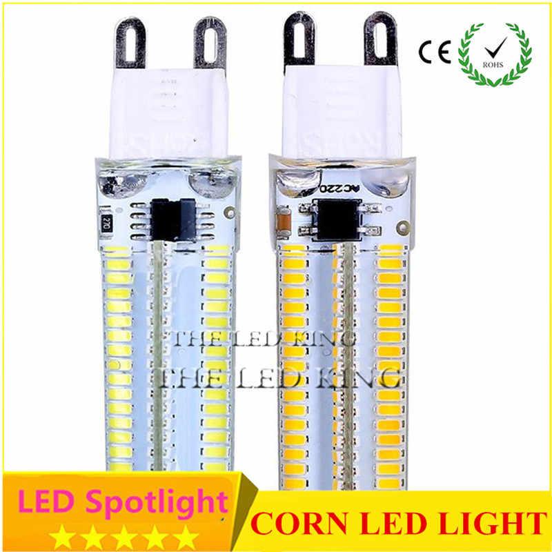 Minilámpara LED G9 superbrillante, 1 unids/lote, 220V, 7W, 9W, 12W, 15W, 21W, Bombilla de maíz de 360 grados, 48, 64, 96, 104, 152LEDs, SMD3014 2835