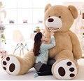 Огромный Размер 130 см 200 см Гигант Медведь Кожи Пустые Мягкие ToysSuper Качество Плюшевые Подарки Игрушки для Любителей HT3711