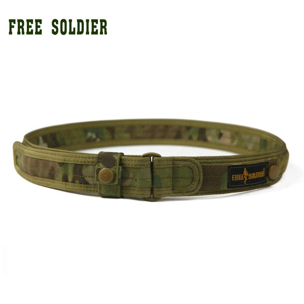 Бесплатный солдат открытый аллигатор тактический сильный нейлон холст пояса обучение свободного покроя мужские пояса