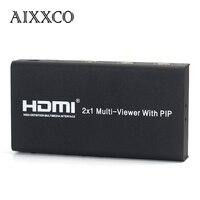 Aixxco hdmi 2x1 multi viewer splitter switcher con pip con ir 1080 p immagine a/v divisione hdtv pc per ps3 tv
