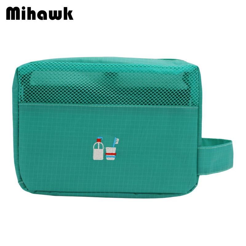 Mihawk Mesh Women's Wash Pouch Handle Cosmetic Bag Travel Makeup Case Toiletry Tools Storage Organizer Accessory Supply Products mihawk women s fashion animal portable handbags shoulder pouch messenger pouch storage belongings organizer accessories products