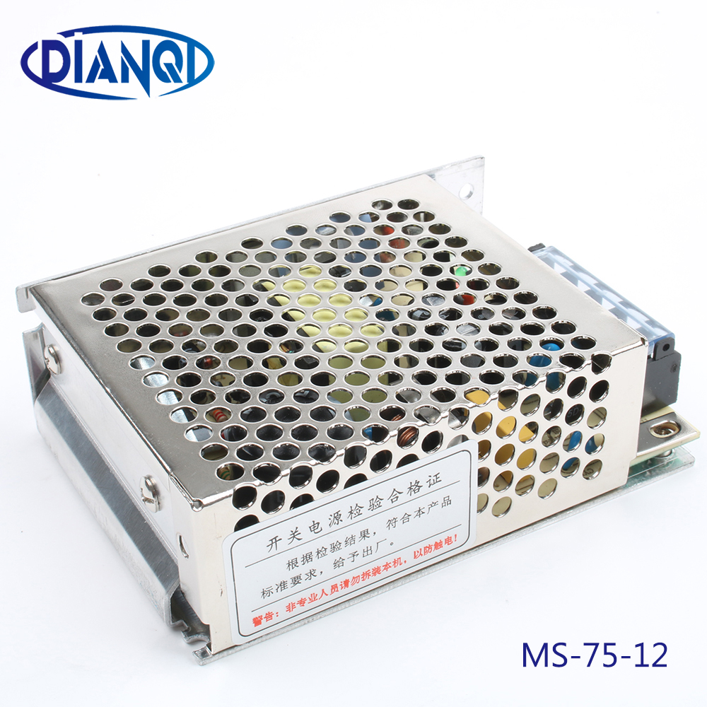 power supply 75w 12V 6.3A power suply unit 75w 12v mini size din led ac dc converter ms-75-12 image