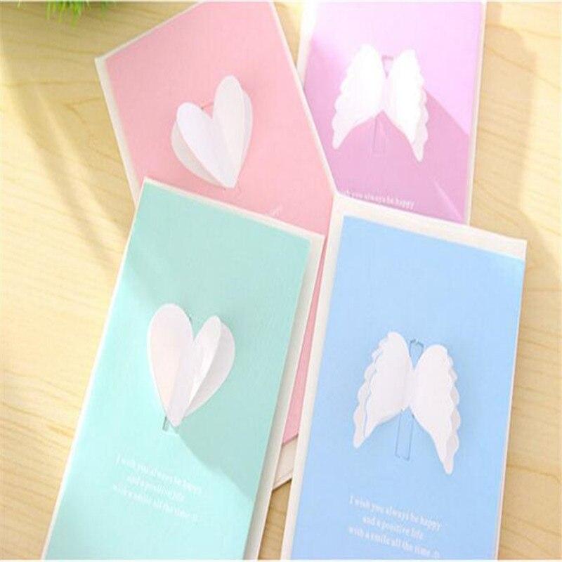 4 STÜCKE Valentinstag Kreative Flügeln Liebe Grußkarten Neujahr Weihnachten  Nachricht Segen Karten In 4 STÜCKE Valentinstag Kreative Flügeln Liebe ...